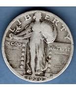 1930 Silver Standing Liberty Quarter Dollar US ... - $8.00