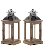 2 Large Western Candle Lanterns - $60.00