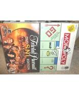PARKER BROS. MONOPOLY & SNL TRIVIAL PURSUIT DVD... - $14.99