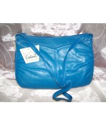 CONTESSSA GENUINE LEATHER SHOULDER BAG- BLUE-NEW WITH TAGS