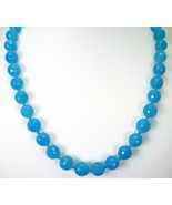 Brazilian Aquamarine Strand Hand Faceted + Knot... - $124.85
