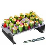 New Pepper Roasting Rack for Grill w/ Stainless... - $35.97