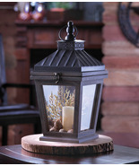 Hanging Bungalow Candle Holder Wood Glass and I... - $24.00