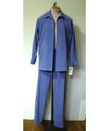 NOTATIONS Periwinkle Wms Pantsuit Jacket S Pant... - $15.50