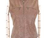 Buy womens leather outerwear - Womens light brown Nappa leather vest, outerwear