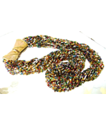 Vintage Multi Color Glass Bead Long Torsade Nec... - $42.00