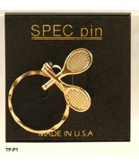 Metal Tennis Pin 1 3/4  x 1 3/4 inches  Pin Go... - $9.99