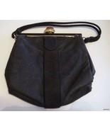Vintage Black Fabric Koret Handbag Black & Gold... - $22.75
