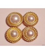 lot of 4 Vintage  Button Covers Faux Pearl - $15.95