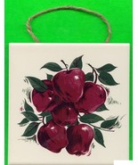 Hand-painted Tile Trivet or Wall Hanger ...APPLES - $10.00