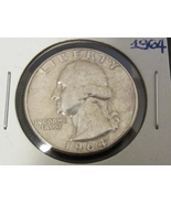 1964 Washington Quarter from 90% Silver - $7.00