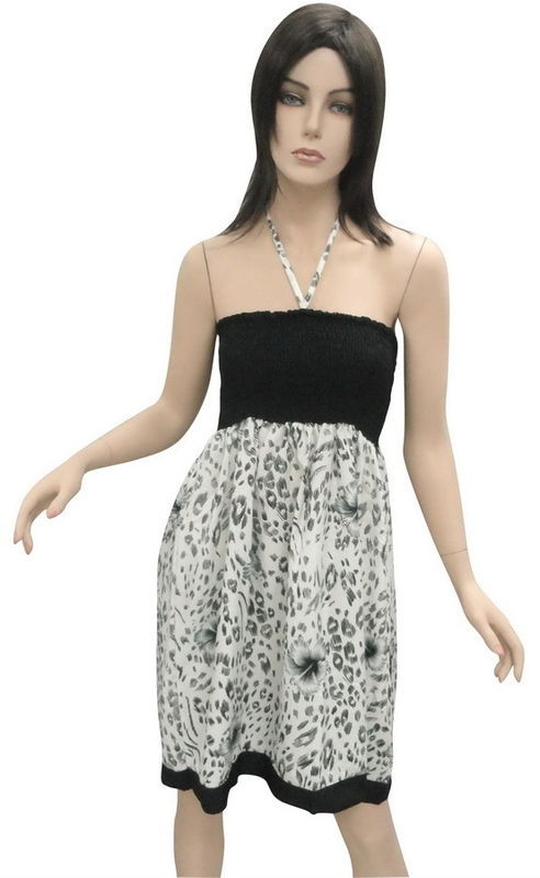 Animal Skin Ptd Tube dress Boob Halter Backless Tunic Valentine's Day Gif