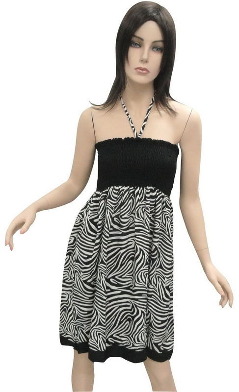 Attractive Looking Tiger Tube dress Cocktail Backless Boob Valentine's Da