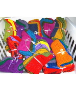 Crochet Dish Wash Cloths Handmade Lot Of Three - $5.98