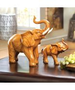 LARGE & SMALL ELEPHANT FIGURINES, STATUES - $45.25