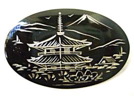 Vintage Sterling Japanese Damascene Niello Pago... - $25.00