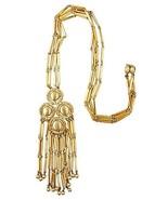 1970s Monet Runway Couture Pendant Fringe Necklace - $160.00