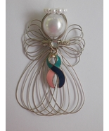Thyroid Cancer Awareness Angel Ornament Handmade - $8.50