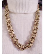 CORO Necklace Heavy Braided Chain Links 26