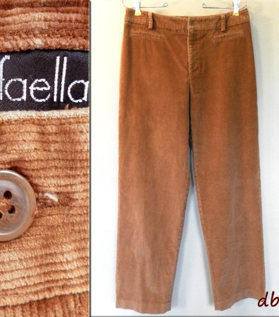 RAFAELLA jean CORDUROY pants HONEY tan BROWN classic COTTON stretchy womens 8 M