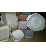 Set of 7 Microwave Cookware Littonware Rubberma... - $49.49