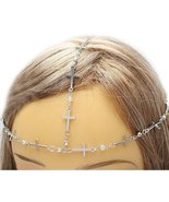 Cross Head Armor Chain Crystals Bohemian Indie ... - $14.00