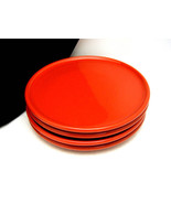 Set 4 Solid Red Bread or Salad Plates Waechters... - $49.49