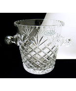 Taunton Lead Crystal Ice Bucket 24% Poland With... - $74.24