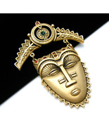 Vintage Avon Rhinestone Face Mask Brooch - $69.29
