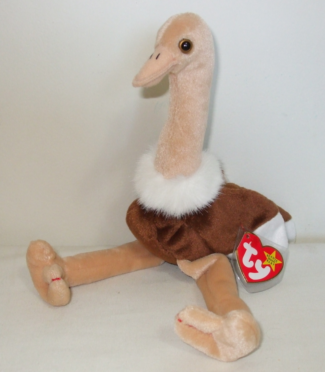 Ty Beanie Babies NWT Stretch The Ostrich Retired