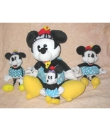 Lot Of 4 Gund Disney Plush Minnie Mouse Dolls - $20.00