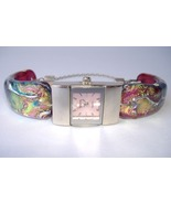 Pink Breast Cancer Awareness Watch Fused Dichro... - $275.00
