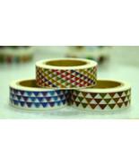 3 Rolls of Japanese Washi Masking Tape Roll- Ge... - $8.00
