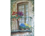 Buy Balcony with Flowers Garden Flag - New