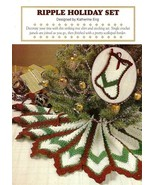 X306 Crochet PATTERN ONLY Ripple Holiday Tree S... - $9.45
