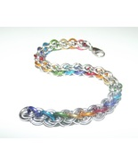 Jen Pind's Link Chainmaille Pride Jewelry Bracelet - $32.00