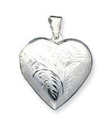 Sterling Silver Large Heart Locket - $48.00