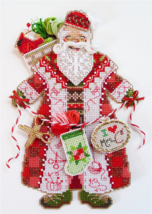 Spirit of Christmas Stitching Santa Ornament Ch... - $13.50
