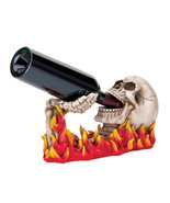 WINE HOLDER Skull w Hand rising from the flames... - $15.69