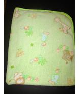 Carter's Watch the Wear Green Baby Blanket Anim... - $22.99