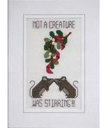 Mistletoe Mice christmas holiday cross stitch c... - $5.40