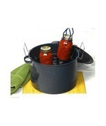 Enamel Waterbath Canner Rack Utensil Food Can W... - $78.59