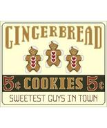 Sweetest Guys In Town gingerbread holiday cross... - $7.20