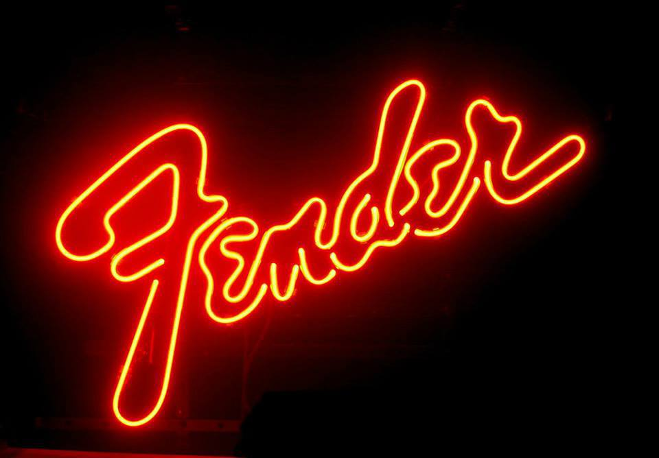 Fender guitar dealer music neon light sign 15 39 39 x 10 39 39 neon for Musically lit