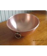 Vintage Solid Copper Chef's Mixing Bowl - $65.08