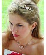 Gold Couture Crystal Wedding Jewelry and Tiara Set - $139.99