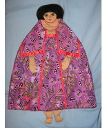 African Lady Pajama bed Pillow Doll handcrafted... - $47.77
