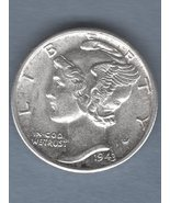 1943 D Dime BU Strong FB US Coin - $25.00