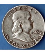 1955 Half Dollar Silver USCoin Excellent - $20.00