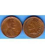1909 Lincoln and Indian  Pennys  US Coin - $15.00